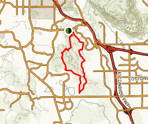 Sycamore Canyon Extended Trail Map