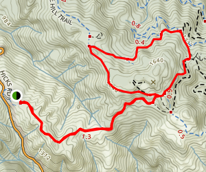 Wood Road, Castillero Trail, Mine Trail Loop Map