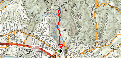 Aptos Rancho Trail Map