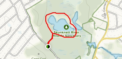 Holly Trail to West Pond Circuit Map