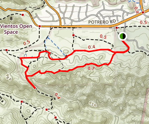 Ranch Overlook Trail to Palomino Trail Loop Map