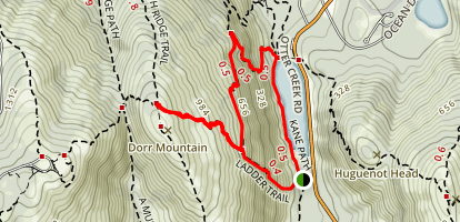 Dorr Mountain Ladder Trail Map