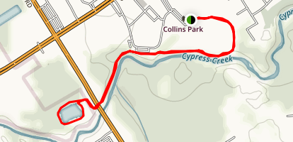 Collins Park and Cypress Creek Map