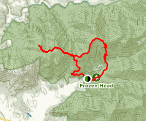 Thompson and England Mountain Loop Map