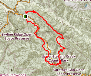 Ridge Trail, Peters Creek, and Canyon Trail Loop Map