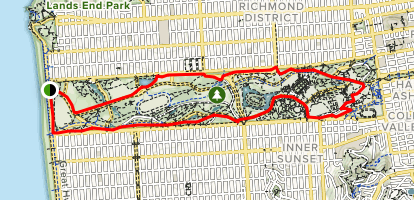 Golden Gate Park Perimeter Loop Map