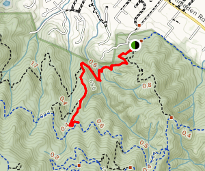 Hacienda Trail to Buena Vista Trail Map