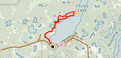Childs Lake Winter Trail  Map