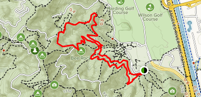 Bee Rock and Spring Canyon Loop Map