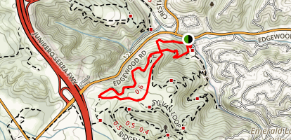 Old Sage Road, Edgewood and Serpentine Trail Loop Map