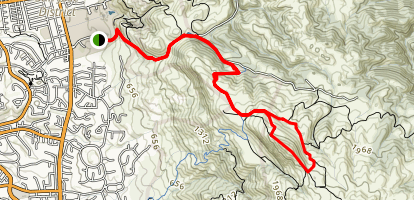 Mission Peak from Ohlone College Loop Map