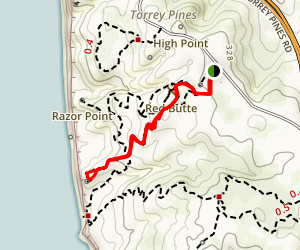 Beach Trail to Yucca Point Trail Map