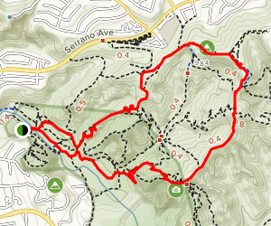 Barham Ridge Trail and Oak Trail to Robber's Roost Map