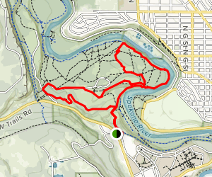 Riverside State Park: Military Cemetery/Equestrian Area Loop  Map