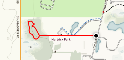 Hartrick Park Blue Loop via Black Trail Map