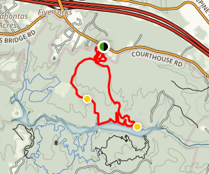 Bell Lap to Corkscew and Sunsetter Map