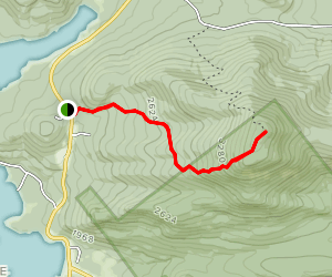 Blue Mountain Trail to Blue Mountain Fire Tower Map