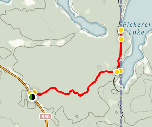 Pickerel Lake Trail  Map