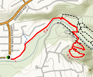 Santiago Creek Trail to Windes Nature Trail Loop Map