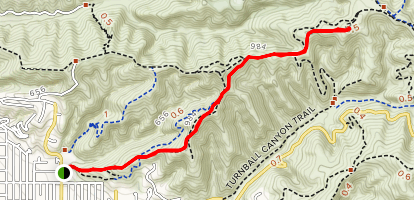 Skyline Drive Trail to Water Tank Map