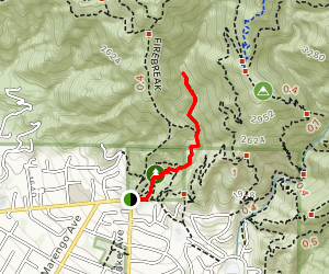 Las Flores Canyon Trail Map