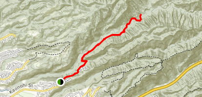 Waimalu Ditch Trail Map