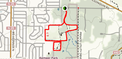 Helm Woods Forest Preserve Loop Map