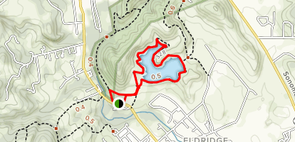 Suttonfield Lake Loop Map