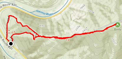 Baldy Mountain Map