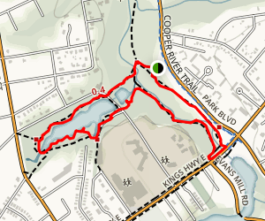 Hopkins Pond and Cooper River Trail Loop Map