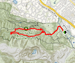 High Meadow and Upper Wildcat Canyon Loop via Lower Meadow Trail Map