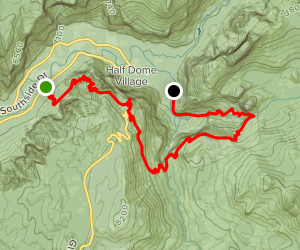 Four Mile Trail to Panorama Trail to Mist Trail Map