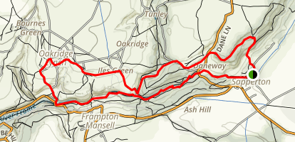 Sapperton Valley Loop Map