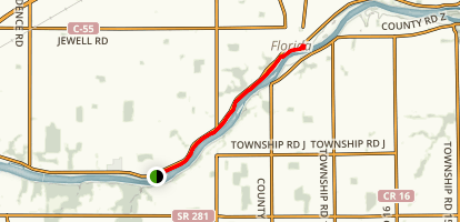 Miami-Wabash-Erie Tow Path Map