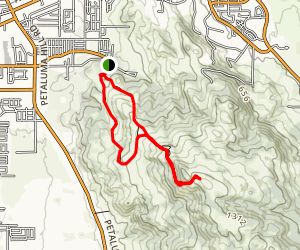 Taylor Mountain via Western Route Map