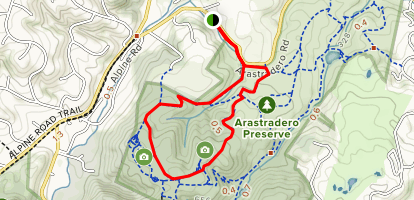 Woodland Star Trail to Meadowlark Trail Loop Map