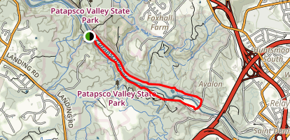 Grist Mill Trail and River Road Loop Map