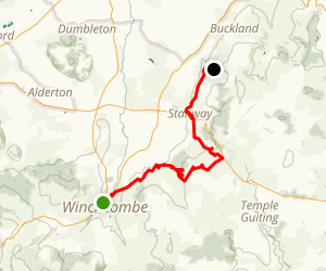 Cotswold Way: Winchcombe to Stanton Map