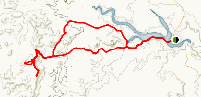 Hike to Har Karkom from Hwy 40 Map