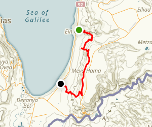 Ein Gev to Ha'On Map