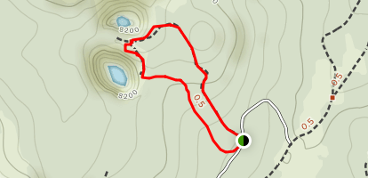 Inyo Craters Trail Map