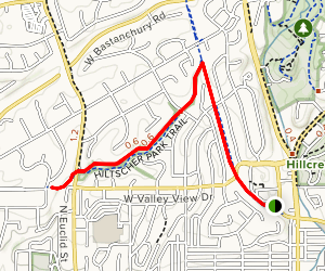 Juanita Cooke Trail to Hitscher Park Trail  Map