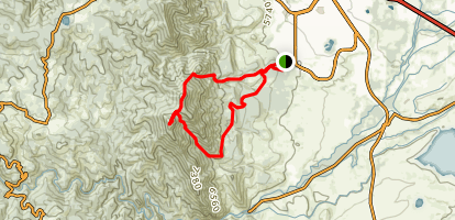 Bear Peak and South Boulder Peak via Shanahan North Fork, Fern Canyon and Mesa Trail Map