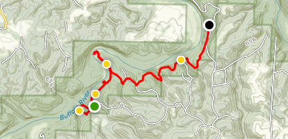 Buffalo River Trail: Brush Creek to Red Bluff Road Map