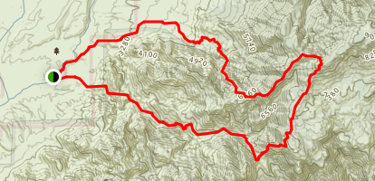 Romero Canyon and Sutherland Loop Map