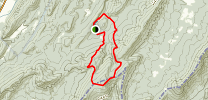 Trout Pond and Long Mountain Loop Map