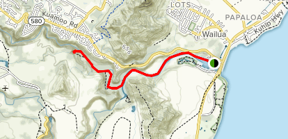 Wailua River and Secret Falls Map