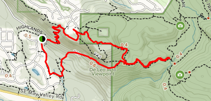 Newcastle Highlands to De Leo Wall Loop Map