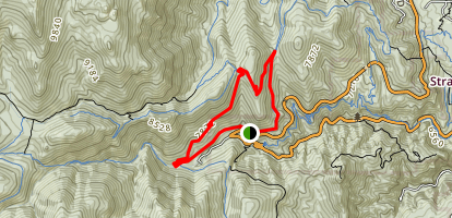 Mount Buckhorn Loop via High Drive Map