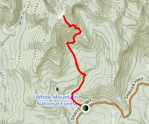 Mount Moosilauke via Gorge Brook Trail - Winter Route Map